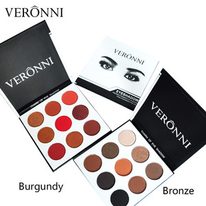 Hot Sales New Brand Veronni Cosmetic Eyes Makeup Palette 9 Colors Eyeshadow Palettes