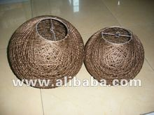 Abaca Twine Ball Lamp Shades