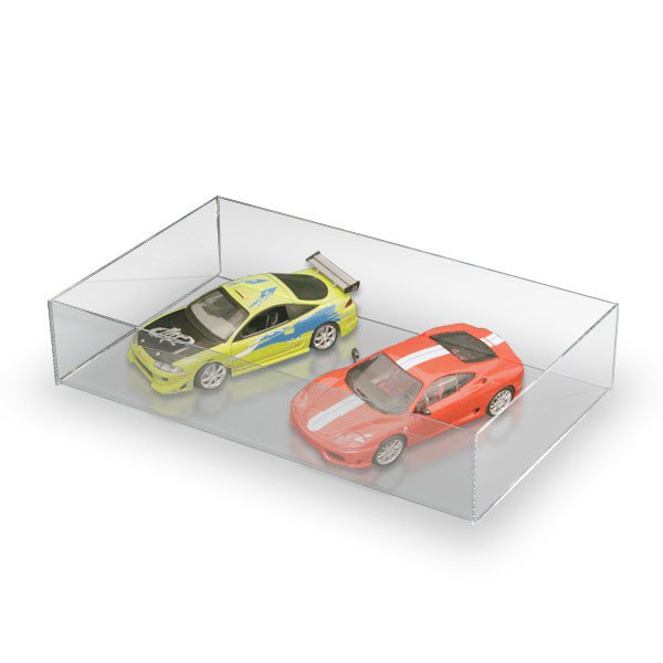 Simple Design Premium Clear Acrylic Perspex Toy Car Storage Tray