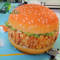Amazing Printing Oxford Cloth Decor Inflatable Hamburger Balloon Model