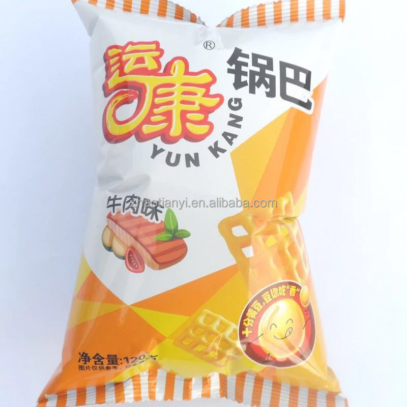Clear Printing Corn Tortilla Chips Plastic Packaging Inflatable Bean Bag