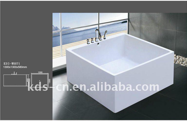 Square Tub square bathtub - mobroi