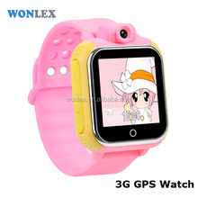 Wonlex latest design 3G kids smart watch GW1000 gps tracker sos call wrist gps tracker smart watch for kids