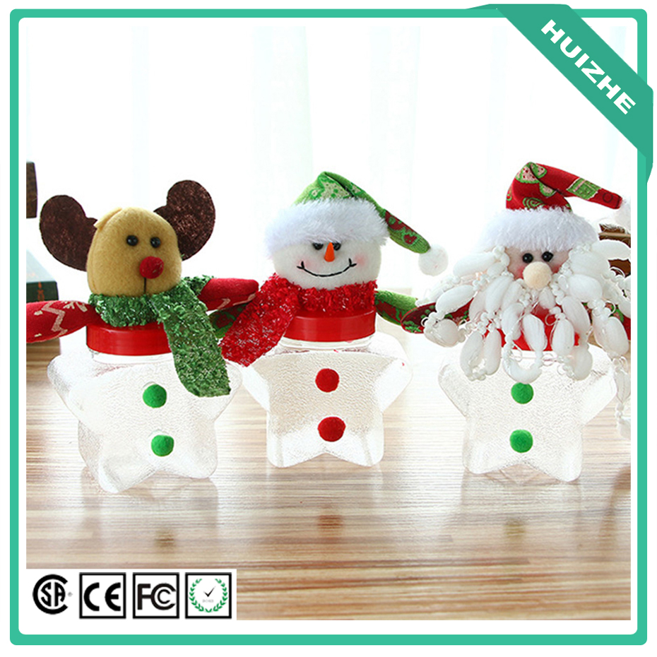 2017 Five Stare Products Pet Green Plush Christmas Ornaments Christmas Candy Jar