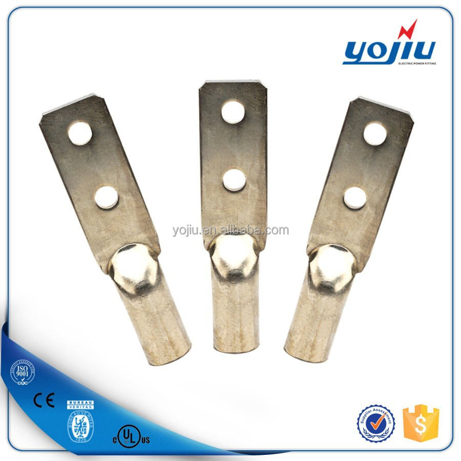 Yojiu DTGD two holes tinned copper type cable connector/electric wire copper cable lug