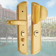 New arrival stainless steel polished brass three point door lock for office, school, hospital, kitchen