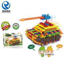 Educational magic stick building blocks DIY tank chariot bricks toys