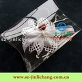 Clear pillow folding plastic box for gift