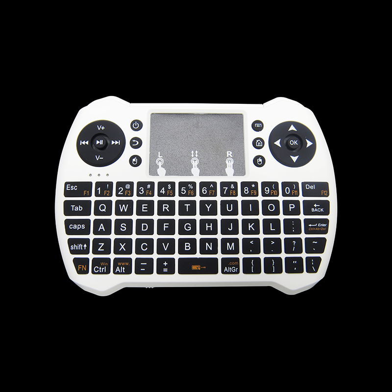 2017 new product mini qwerty keyboard with control keys smart fly Air mouse H9 backlit keyboard