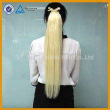 XBL new arrival wholesale remy human hair clip on ponytail