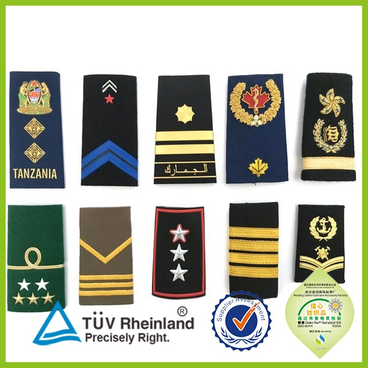 Factory cheap price handmade custom badge military epaulettes