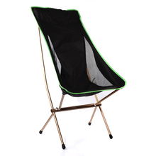 Wholesale aluminium fabric materials foldable chiar factory cheap price ultralight portable lightweight folding camping chair
