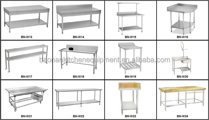 Stainless Steel Pizza Prep Table For Restaurant Equipment