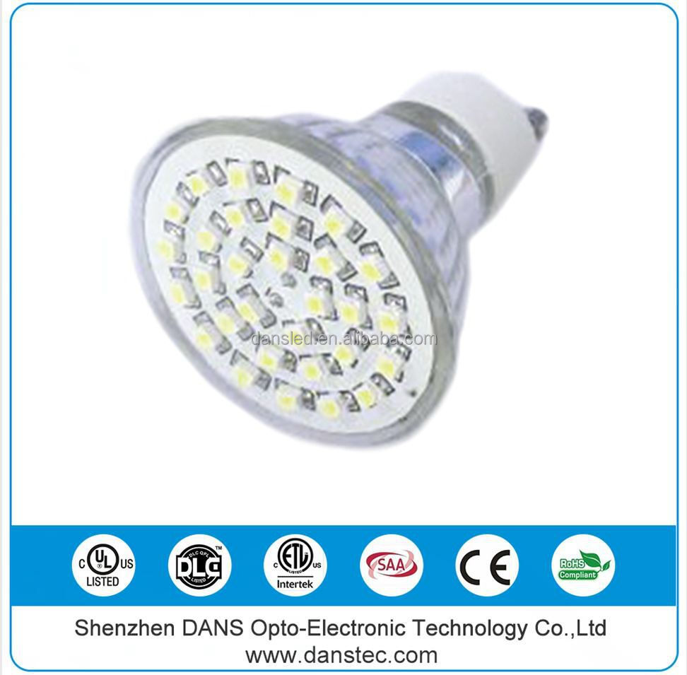 UL CE C-tick RoHS SAA ETL Dimmable 21 smd 5050 led gu10 lamp warm white