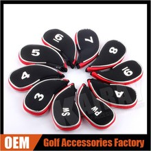 Golf Club Zipper Golf Iron Head Covers Wedge Head Cover
