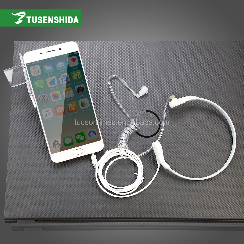 Mobile Phone In-ear Earpiece Cell Phone Clear Air Tube Earphone with Mic