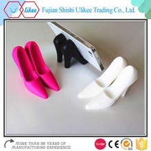 Nice quality funny colorful high-heeled shoes shape silicone phone holder stand