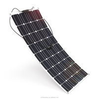 100W strongly waterproof monocrystalline flexible amorphous solar panel for RV BOAT Marine