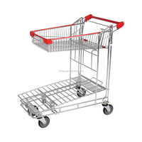 Durable Warehouse Flat Cart With Top