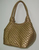 NEW designs - GOLD metallic lady handbag , pu bag , popular handbag