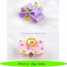 Dog bows wholesale / pretty pet hair bow / dog grooming product