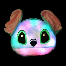 Custom animal head shaped pillow LED light up pillow LED pillow
