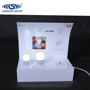 Custom acrylic material counter top for led light display
