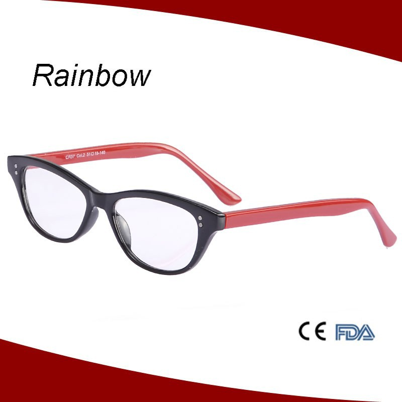 Brand name eyeglass frames cat eye reading glasses for ladies