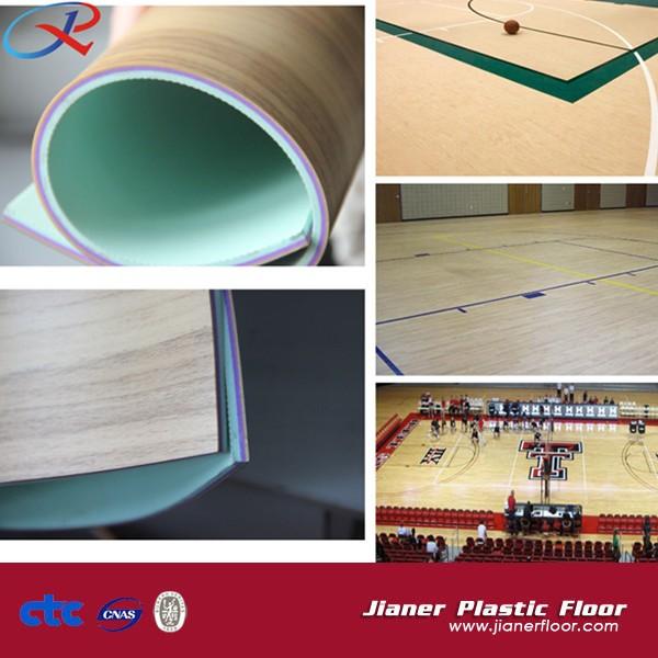 Floor Wood Grain Carpet Indoor Pvc Basketball Court