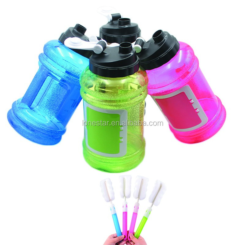 Wholesale Large Capacity Portable 2.2L PETG Fitness Water Bottle/joyshaker bottle for Gym
