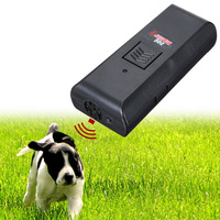 High Quality Newest Black Safe Pet Dog Ultrasonic Aggressive Dog Repeller Train Stop Barking Training Device