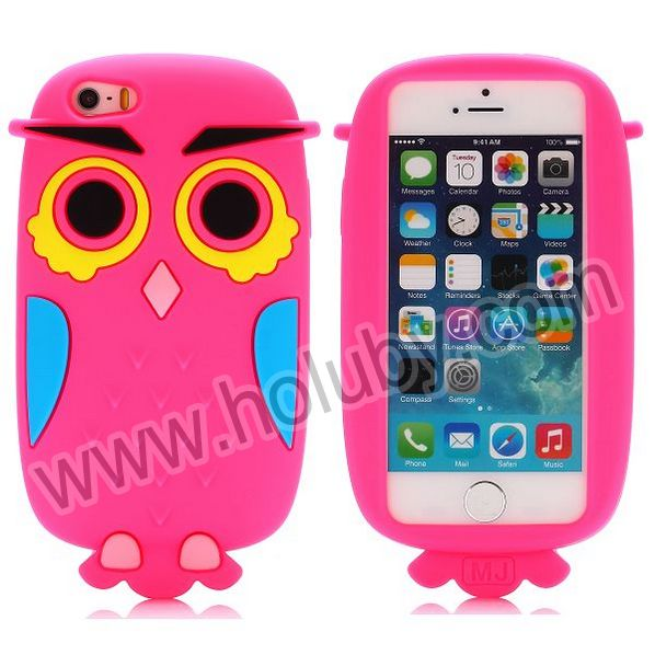 New Fashion 3D Owl Case for iPhone 5S 5,3D Silicon Animal Case for iPhone 5,Cartoon Silicon Case for iPhone 5S