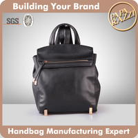 4804 - Classic Style Fashion Custom School High PU Leather Laptop Bag Backpack 2016