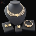 2018 Newest Designed Costume Jewelry Made In China Dubai Gold Plated Jewelry Sets for Women