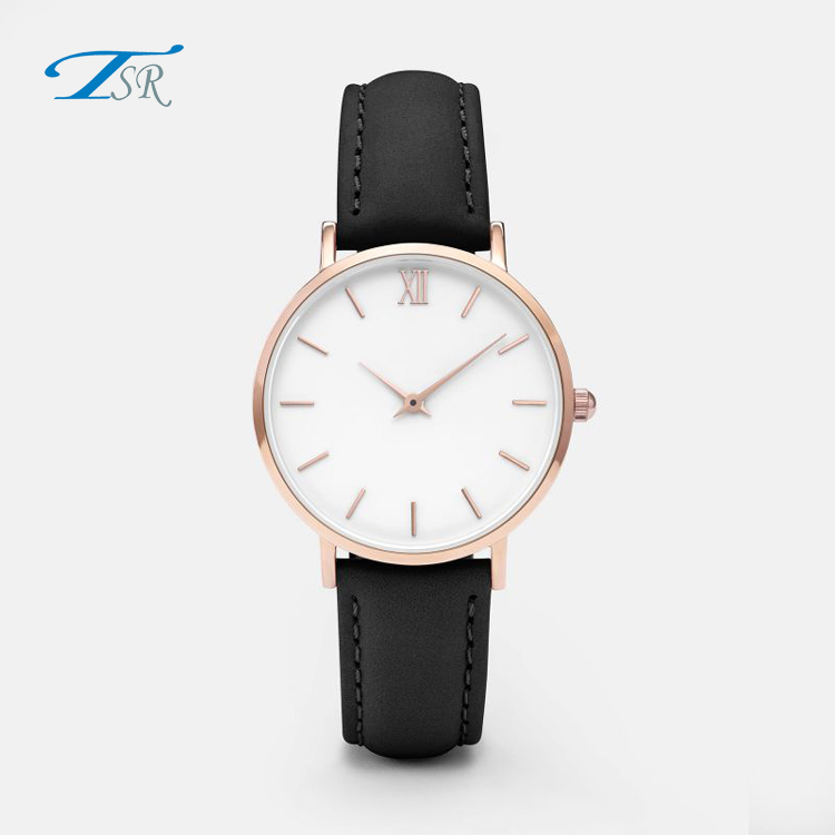 2018 Fashion Brand Style Minimalist Stainless Steel Case Ladies Women Watch