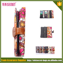 Portable newest brightly colored nylon fancy old fashion wallets