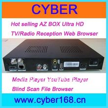Hot selling az box ultra hd with TV/Radio Reception Web Browser
