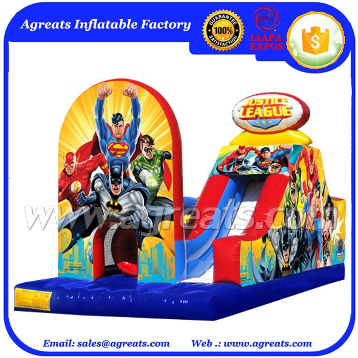 2016 entertainment inflatable kids inflatable obstacle course,bright color inflatable cartoon obstacle combo with slide G5044