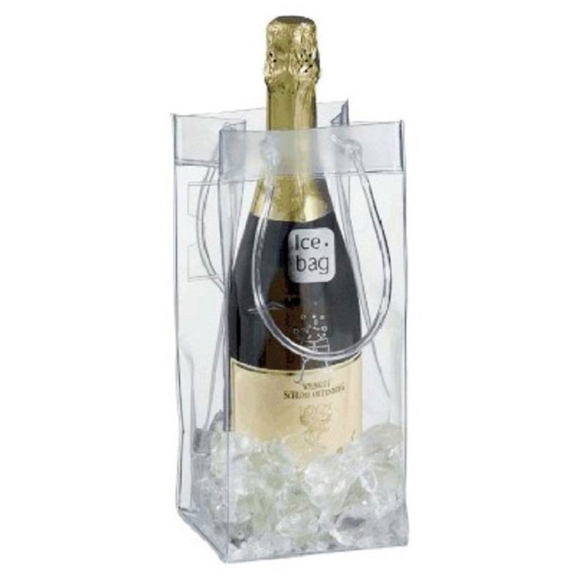 eco friendly custom printing eva clear plastic tote bottle wine cooler bag pvc