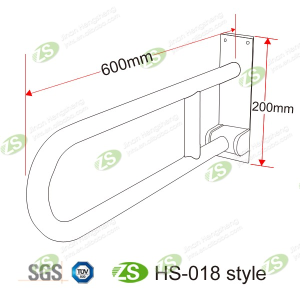 Nylon Outer Materials Grab Bar for Disabled Used