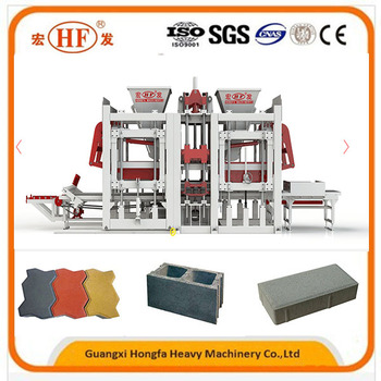HFB5250A concrete brick block making machine price manufacturer