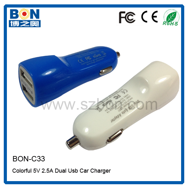 2016 Hot Sale Output 5V 2.1A 2 USB Car Charger