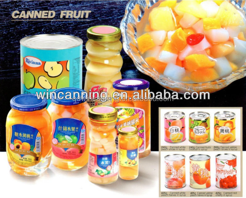 canned mixed fruits with syrup