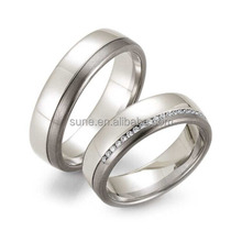 wholesale oem jewelry rings for men women free shipping ring made of anti allergy titanium