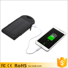 Shenzhen 12000mAh portable black external solar charger power bank for iPhone
