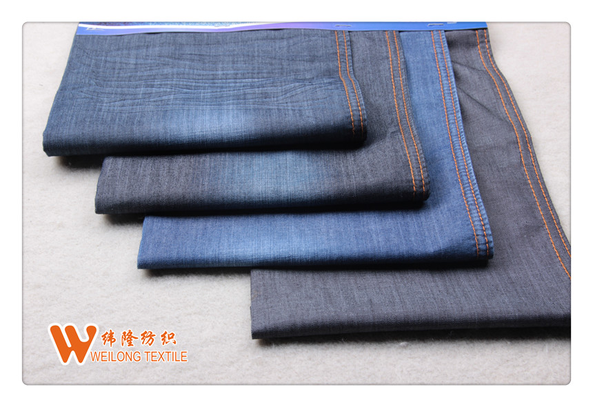 B1449-A overdye grey blue white denim fabric