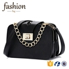CR fully stocked fahion popular single shoulder bag with chain and lock girls shopping purse black little wallet