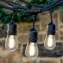 2017 USA Hotsale 48FT Bulbrite E27 E26 black Outdoor Light String Light with Vintage Edison Bulbs