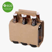 Costmize 6 Pack Beer Carrier, Corrugated Cardboard Wine Box