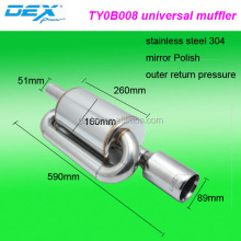 car universal sport racing exhaust system muffler